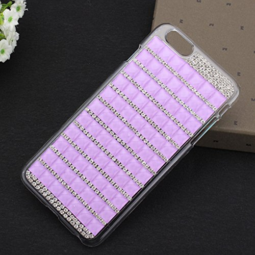 Case Cover Hot Luxe Bling Crystal strass pour iPhone 6 Plus rose rouge-blanc