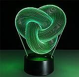 Tischleuchte dritt- Ring Schreibtischlampe 3d 7 Farben ändern Noten-Schalter Fernbedienung Tabelle LED-Licht-Nachtbeleuchtung Hauptdekoration Haushaltszubehör