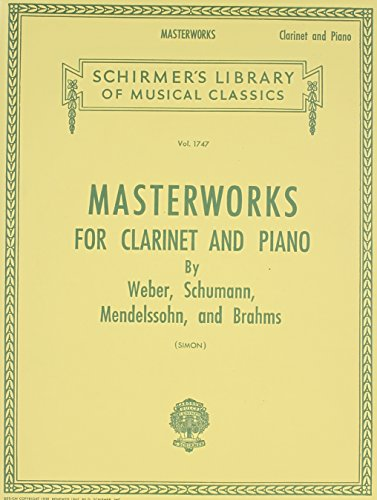 Masterworks For Clarinet And Piano Clt