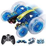Mini Ferngesteuertes Autos, Elektrisches RC Spielzeug, Remote Control Auto whit mit leistungsstarken LED,2,4 GHz,360 Flip,2 Seiten laufen,15MPH, Off-Road-Fahrzeug, Geschenke für Kinder und Erwachsene