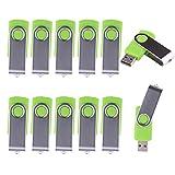 WST (Lot de 10) Clé USB 1Go Mémoire Flash USB 2.0 (Vert)