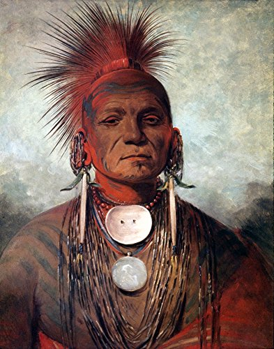 The Poster Corp CATLIN: Medicine Man. /Nsee-Non-Ty-A An Iowa Medicine Man. Painting by George CATLIN. Kunstdruck (45,72 x 60,96 cm)