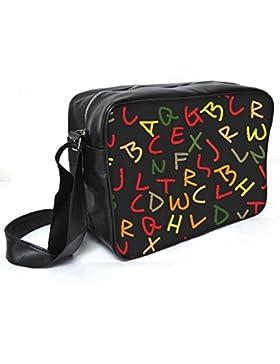 Snoogg gemischt Farbe-Zeichensätze Leder Unisex Messenger Bag für College Schule täglichen Gebrauch Tasche Material PU