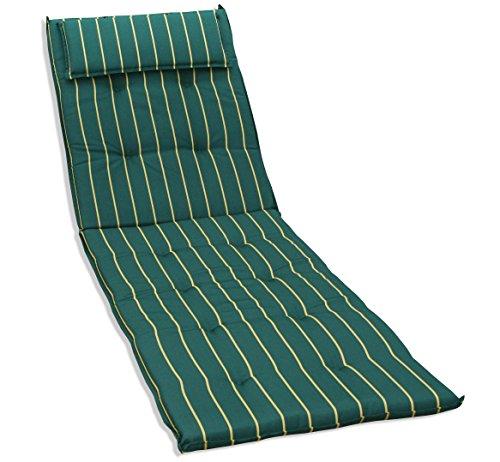 KMH, Auflage für Sonnenliege ( tannengrün / mit gelben Streifen ) (#105046)