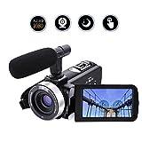 Videocamera Videocamera Full HD 1080p/30FTPS 24.0MP Videocamera digitale Microfono esterno Videoregistratore Night Vision Webcam con telecomando