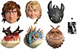 How To Train Your Dragon 2 - Karte Partei Gesichtsmasken (Maske) Packung von 6 (Hiccup, Toothless, Astrid, Nadder, Gronckle und Monstrous Nightmare) Enthält 6X4 (15X10Cm) starfoto