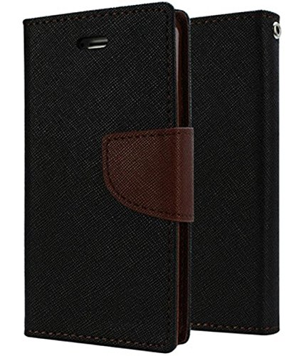Cover Wala Mercury Dairy Flip Cover for Asus Zenfone Max – Black Brown