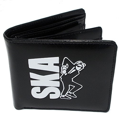 Men Embossed Black Wallet - SKA Theme