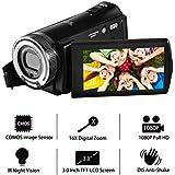 videokamera camcorder kamera fhd 1080p kamera 16x zoom 20mp videokamera mit 3,0 zoll tft - lcd - bildschirm für 270 - grad - drehung