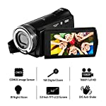 Camcorder Video Camera FHD 1080p Camera Camcorder 16X Zoom 20MP Video Camera with 3.0 inches TFT LCD Screen Support 270 Degree Rotation