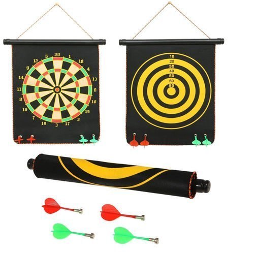 spincartÃ?Æ?Ã?â??Ã?â?º Foldable Magnetic Dart Game with Non-Pointed Darts and Double Faced Board (Assorted)