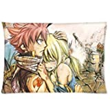 Anime Pillow Covers Custom Fairy Tail Natsu Lucy federe 20 x 26 federa copertura