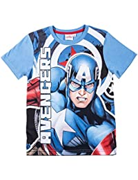 T-shirt manches courtes enfant Avengers Captain America Bleu de 6 à 12 ans
