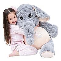 IKASA Giant Elephant Stuffed Animal Plush Soft Toys Gifts Grey 100cm