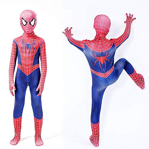 Remy Spiderman Kostüm Cosplay Party Set Erwachsene Anime Trikot Halloween Draw Kleidung + Spiderman Keychain - Spiderman 2 Kostüm Set Männer