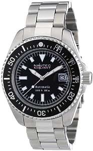 Nautec No Limit - DS AT/STSTBKBK - Montre Homme - Automatique Analogique - Bracelet Acier Inoxydable Argent