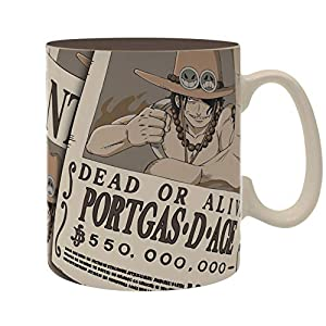 ABYstyle - ONE PIECE - Taza - 460 ml - Ace Wanted