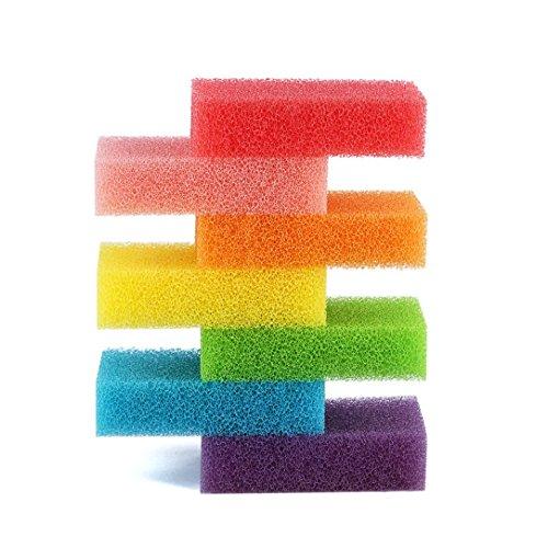 Reinigungsschwämme - Kingwo ILH 07 Stück bunte Schwämme Wäscher-Pack Hochtemperatur Kompression, Mehrfarben- Schwämme mit Scheuerschwämme