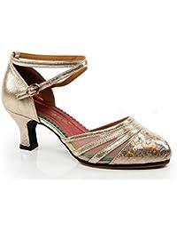69b0ac549a4 WXMDDN Zapatos de Baile Latino de Oro Champán de Mujeres Adultas de Zapatos  de Baile Zapatos de Baile Al Aire…