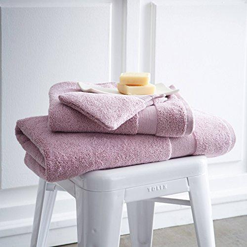 Lot De 2gants De Toilette 16cm X 21cm 600g/m² Poudre De Lilas - Design Actuel Premium
