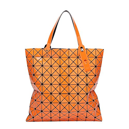 Frauen Variety Falttasche Geometric Umhängetasche Orange