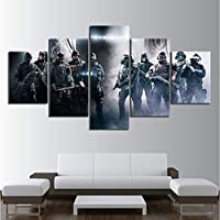 mmbj 5 Piece Games Art Print Rainbow Six Siege Poster Paintings Soldiers Pictures Canvas Art Decorative Paintings Wall Art Paintings 30x40cm2 30x60cm2 30x80cm1