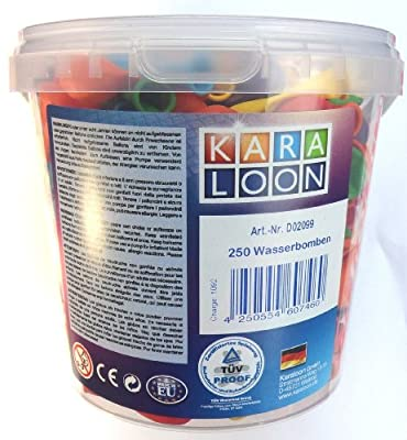 Karaloon D02099 8 cm 250 Water Bombs Bucket - Assorted Colours