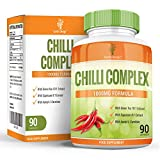 Chilli Burn Complex, Maximum Strength Fat Burner for Men & Women, Natural Diet & Weight Loss Supplement, Formulated to Speed Up Metabolism, With Green Tea & Capsicum To Lose Weight Fast, 90 Capsules