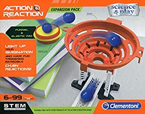 Ciencia y Juego- Action & Reaction Trampolín, Multicolor (Clementoni S.p.A 19116)