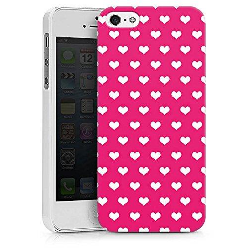 Apple iPhone X Silikon Hülle Case Schutzhülle Polka Herz Pink Weiß Hard Case weiß