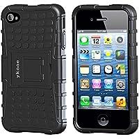 Funda iphone 4, ykooe (TPU Series) iphone 4s Híbrida Doble Capa Teléfono Móvil Carcasa Antigolpes Funda con Soporte para iPhone 4 4s