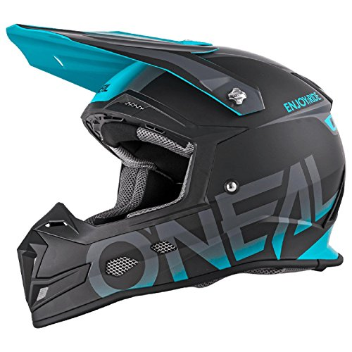 O'Neal 5Series Blocker MX Motocross Helm Enduro Trail Quad Cross Offroad Visier, 0618-0, Farbe Blau,...