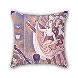 beautifulseason Ölgemälde Georges Seurat–Le Chahut Kissen 45,7x 45,7cm/45von 45cm Wahl für Liegestuhl Kids Jungen Play Raum Erwachsene Bar Sohn mit Twin Seiten