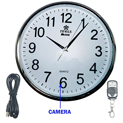 M MHB Full HD 1920*1080 Quality Wall Clock Hidden Spy Camera Wireless...