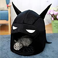 Zantec Casita para animal doméstico, perrera, con forma de moda, herramienta para mascotas Portable Batman Warm Pet Bed Dog Cat House Kennel Pet Supplies Decoración