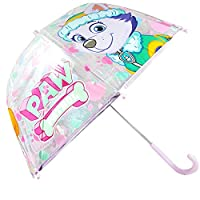 Umbrella Dome Transparent Manual Umbrella Girl Children Paw Patrol Skye and Everest 63 cm (PW12174)