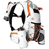 Raidlight Mochila Ultra 8L white/orange + 2 bidones 600ML