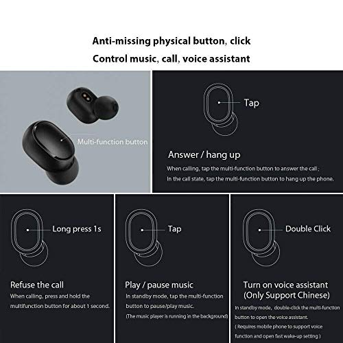 Mi Airdots Earphones (Black) Image 7