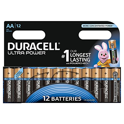 Duracell - Pile Alcaline Ultra Power - AA -12 Piles
