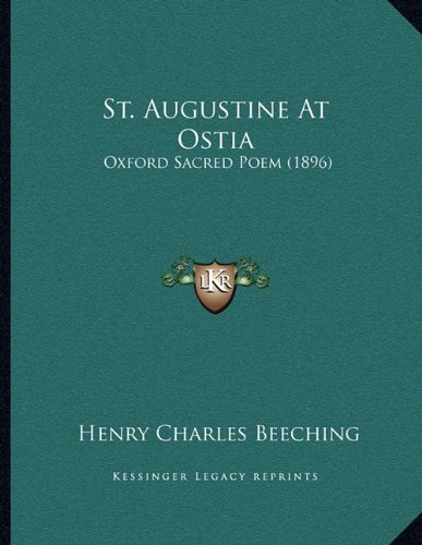 St. Augustine at Ostia: Oxford Sacred Poem (1896)