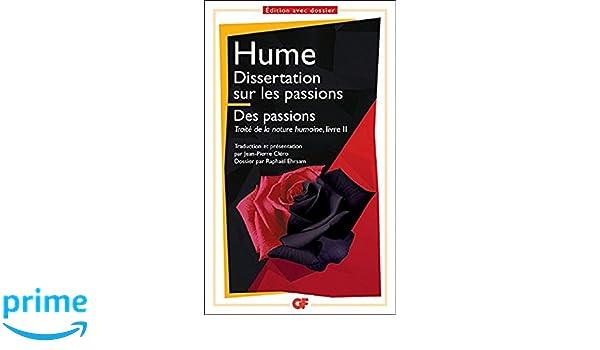 dissertation sur les passions hume garnier flammarion