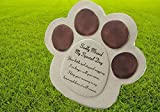 Special Dog always Loved Sadly Missed Dog Paw commemorativo Pet tomba di pietra