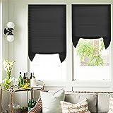 Plissee Verdunklung Schnurlose Filterung Jalousie ohne Bohren Fenster Schatten Schwarz 110 x 182 cm 2er Pack