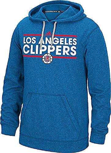 adidas NBA Los Angeles Clippers Herren Heather Royal Dassler Synthetik climwarm Hoodie, Herren Unisex, königsblau Adidas Warm Ups