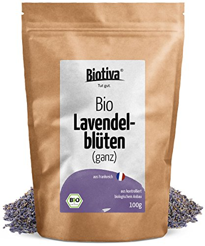 lavendelbl ten blau ganz bio 100g i beste bio qualit t aus frankreich i f r lavendel tee. Black Bedroom Furniture Sets. Home Design Ideas