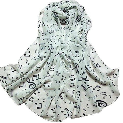 Distressed Weißen Handtuch Halter (Schal,WINWINTOM Frauen, Note Chiffon-Ansatz-Schal-Schal Muffler Schal (Weiß))