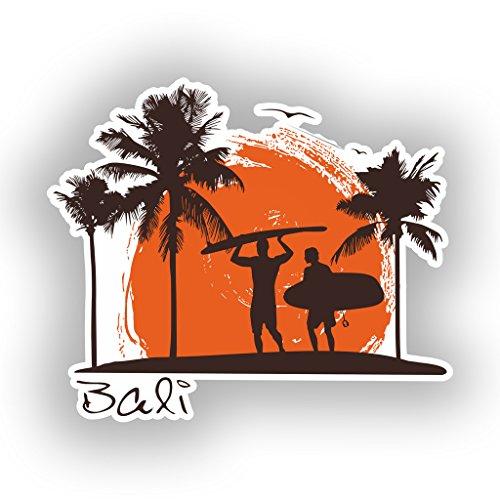 Preisvergleich Produktbild 2x Bali Surfen Vinyl Aufkleber Reise Gepäck # 10513 - 10cm/100mm Wide