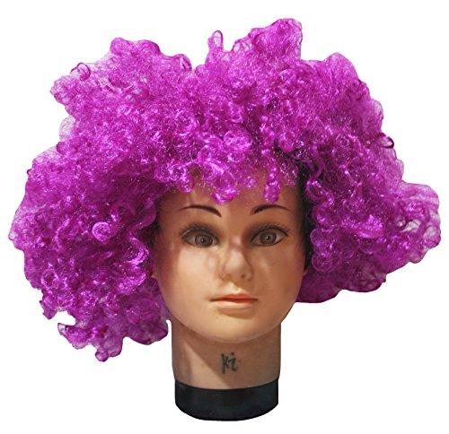 petitebelle Halloween-Kostüm lila Big Perücke Afro Haar für Unisex Einheitsgröße Gr. One size, (Perücke Party Girl Womens Lila)