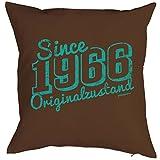 Kissen zum Geburtstag - Since 1966 Originalzustand - Dekokissen, Sitzkissen mit Füllung