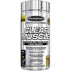 MuscleTech Clear Muscle, Musclebuilding Pill, 168 Caps